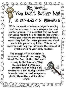 Big Word You Don't Bother Me: Breaking Words into Syllables | Doris Young | {1-4}