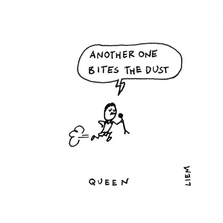 Queen. Another One Bites The Dust. 365 illustrated lyrics project, Brigitte Liem.