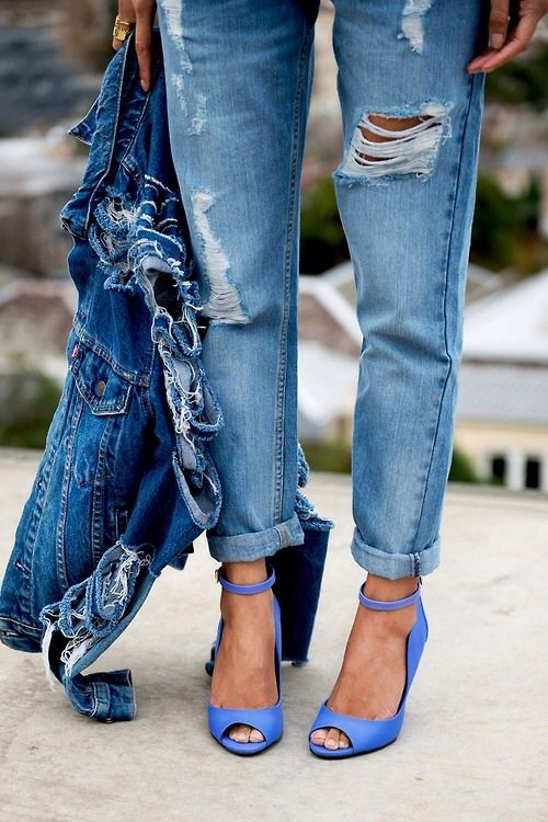 inspiration post ripped jeans denim