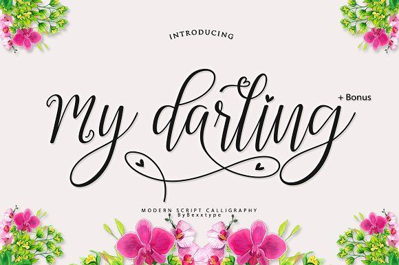 My Darling Script +Bonus by Bexxtype on @creativemarket
