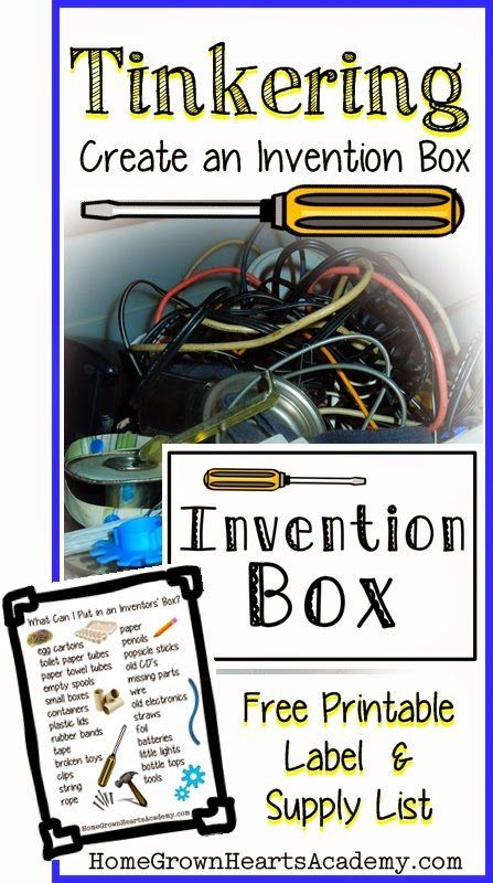 FREE Printable Label and Supply List for an Invention Box