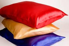"""Jeannie C Riley may have had """"satin sheets to lie on"""".  (grinnn).  However, it's a fact that satin pillowcases help prevent wrinkles.  Cotton & other materials allow the skin on your face to roll & crinkle as you move around.  Satin pillowcases are sleek & allows your skin to gently glide over the material as you move.  We use nothing-but satin pillowcases."""