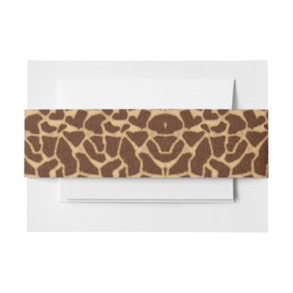 #Giraffe Print Invitation Belly Band - #Invitation #Belly #Bands #Bellybands