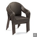 Set of Four Cafe Curved Stacking Chairs  $299.00