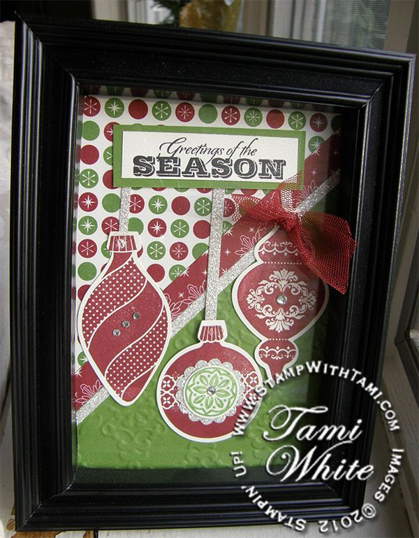 Stampin' Up! Ornament Keepsakes Frame Decor info and