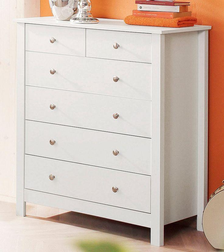 In folgenden Farben erhältlich:  Korpus/Front: weiß lackiert, Korpus/Front: grau lackiert, Oberboden kirschbaumfarben lackiert bei Ausführung Grau, Holzstruktur immer sichtbar,  Details:  6 Schubkästen, Schubkasteninnenmaße (B/T/H): ca. 29/34/10 cm, Schubkasteninnenmaße (B/T/H): ca. 65/34/10 cm, Im Landhaus-Stil, FSC®-zertifizierter Holzwerkstoff, FSC®-zertifiziertes Massivholz, Metallgriffe, L...