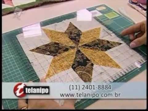 ▶ Patchwork Ana Cosentino: Variação da Estrela 8 Pontas (Ateliê na TV) - YouTube
