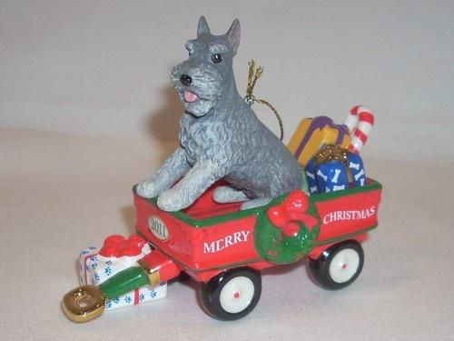 2011 Danbury Mint Mini Schnauzer Christmas Tree Ornament