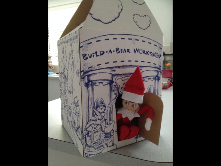 Day 22 - 'Rudy' finds a new home in the 'Build-A-Bear' box from one of Melissa's early Christmas presents!