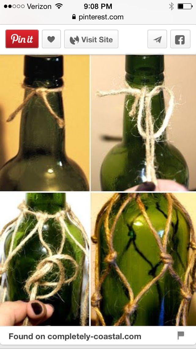 pin von tina chesley auf beaded wine bottle necklace pinterest netz knoten und einrichten. Black Bedroom Furniture Sets. Home Design Ideas