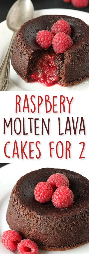 These Raspberry Molten Lava Cakes make the perfect Valentine's Day dessert for two! They can be made with all-purpose flour but also can be made grain-free, gluten-free, dairy-free and 100% whole grain.