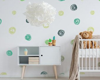 Cute Dots Removable Wallpaper Self Adhesive Nursery Living Room