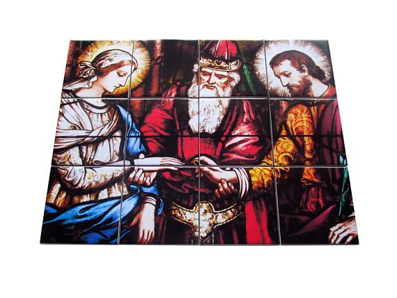The wedding of the Virgin - a new tile mural / mosaic is available now in my Etsy Store: >>> https://www.etsy.com/listing/541088105 <<<  A nice (and very affordable) religious gift for a wedding. Composed by 12 ceramic tiles. Ready to hang. Suitable for indoor or outdoor. 100% handmade in Italy by @TerryTiles2014  #weddinggifts #wedding #virginmary #holyfamily #mary #virgenmaria #ourlady #faith #catholic #catholics #catholicism #religious #gifts #pray #tileart #mosaic #etsyseller #etsyfinds…