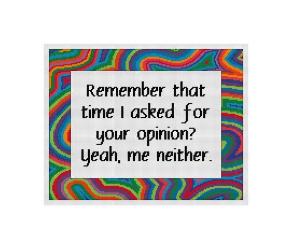 Funny Cross Stitch  Cross Stitch Quote  by CowbellCrossStitch