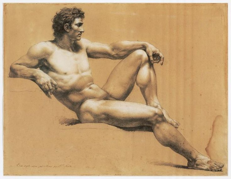 ganymedesrocks:  thisblueboy:  Jacques Reattu (French, 1760-1833), Male Nude Study, 3rd quarter of 18 century, Musee Reattu, Arles  A remarkable nude study where the power subtly call our attention to the power of the facial expression… Jacques Réattu (1760 – 1833) was a French painter who went to Paris, in 1773, where he was a pupil of Jean-Antoine Julien. He entered the Academy in 1781, with Michel Francois Dandre-Bardon as a patron, and was a pupil of Jean-Baptiste Regnault. In 1790 he…