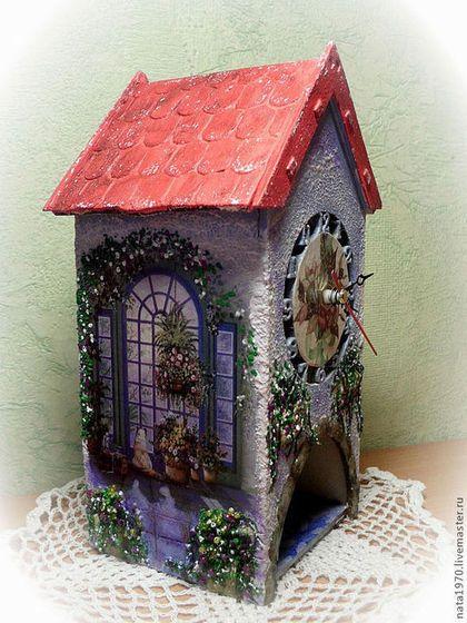 """Кухня ручной работы. Ярмарка Мастеров - ручная работа """"Зимний сад""""  чайный домик с настоящими часами. Handmade."""