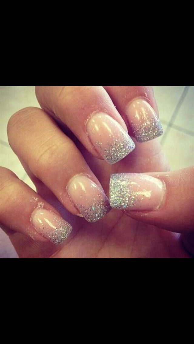 Sparkly Tip Nails