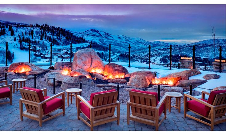 St. Regis Deer Valley, Utah. Making s'mores by the resort's giant fire pit is the perfect activity to cap off a long day of skiing.