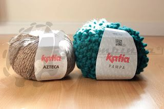 Buying #wool... This time I bought these beautiful #skeins #KatiaYarns brand. One of #skeins I bought is #KatiaAzteca, one of the references I like work with, The #wool is super #soft and the mixture of #colors is spectacular . The new #KatiaPampa . I've never worked with it but should do a different job due to its #texture . The thing that attracted me the most was the #color #tealI will put to work!