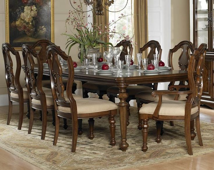 Homelegance Montrose 9 Piece Dining Room Set In Brown