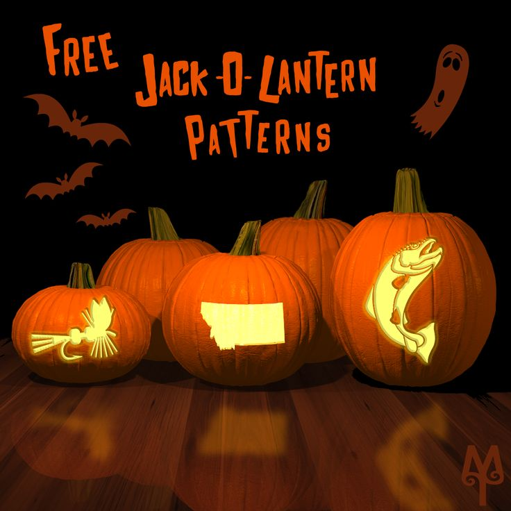 Free Fly Fishing Jack-O-Lantern patterns...For your Montana Halloween, carve a Trout Jack-O-Lantern this weekend. Click the photo and get a free pattern.