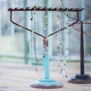 Rake Top Jewelry Stand | Jewelry Tree Stand | Necklace Holder