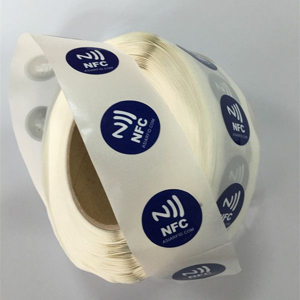 Soft NFC Sticker : Circle 25mm 144bytes User Memory Ntag213 NFC Sticker Printable In Roll