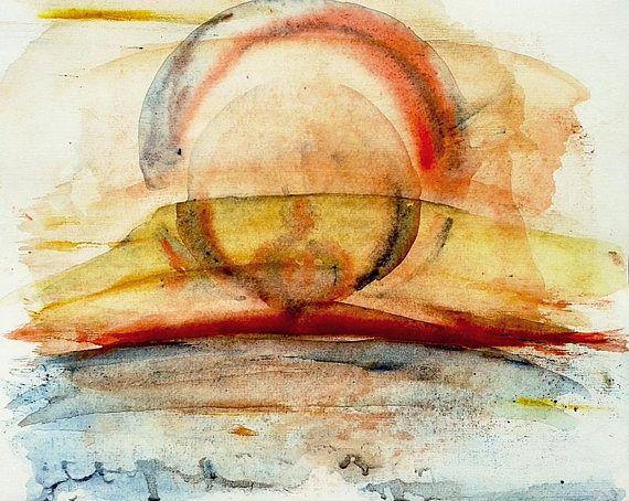 Solar Apparition 2 Original abstract watercolor landscape