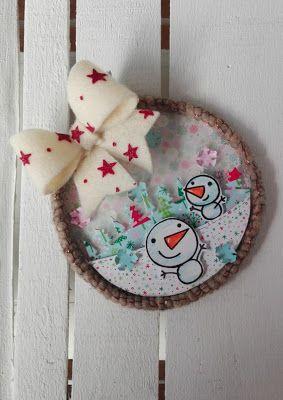 piccole polpette crescono: LET IT SNOW CHRSITMAS WALL HANGING DECOR DIY #christmasdecor #papersmooches #doodlebugdesign #diy #lawnfawn #mamaelephant