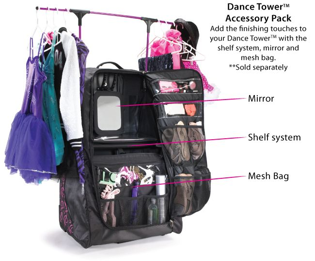 Introducing the Dance Tower dance bag by Grit.  NOW SHIPPING!  Upright design takes up minimal space.  Folds for easy storage. For lowest prices on the internet visit All About Attitude Dancewear www.allaboutattitudedancewear.com