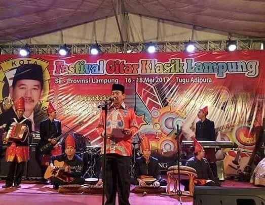 """ Bandar Lampung kaya akan ragam budaya yang perlu dikembangkan dan dilestarikan, Mari semua...pelaku seni gitar klasik untuk mewariskan keahliannya kepada generasi muda agar kebudayaan daerah Lampung ini tidak punah dan akan terus lestari dan berkembang."" (H.Herman HN)"