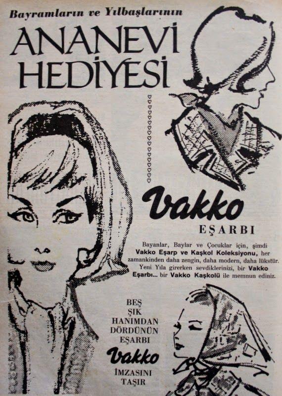 OĞUZ TOPOĞLU : vakko eşarp ve kaşkol koleksiyonu 1964 nostaljik e...