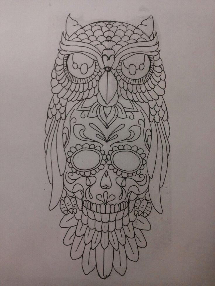 Owl Sugar Skull | Tattoos | Pinterest | Sugar skull ...