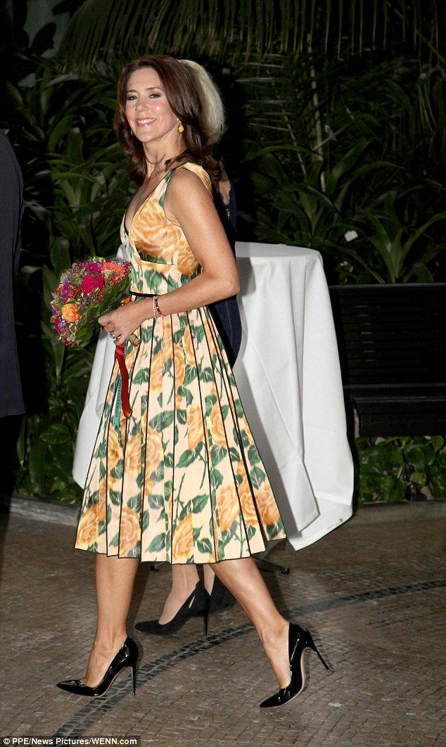 Blooming lovely: Crown Princess Mary has attended theCarlsberg Foundation Research Awards...