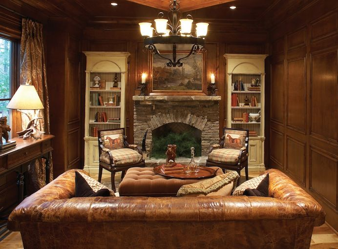 Atlanta Dream Home   Love The Dark Rich Wood Paneled Walls