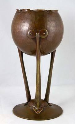 Genuine Arts and Crafts Hammered Copper Sculpture or Planter   eBay