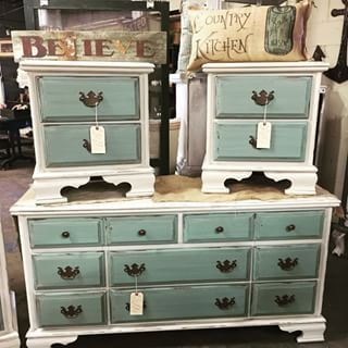 refinishing bedroom furniture ideas. rethunk junk cotton and robin egg make a stunning combo for this bedroom set breakthechalkhabit rethunkjunk nowaxever dresser ideas pinterest refinishing furniture h