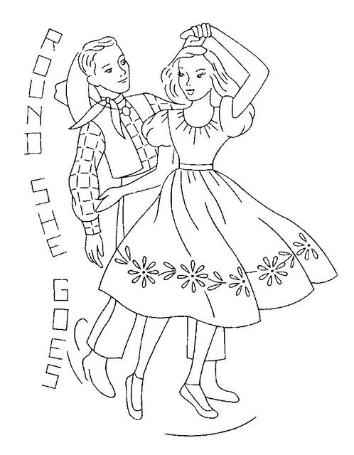 barn dance coloring pages - photo#5