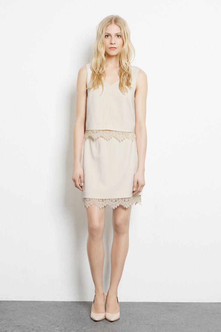 Lace Detail Top £40.00 Lace Trim Skirt £45.00