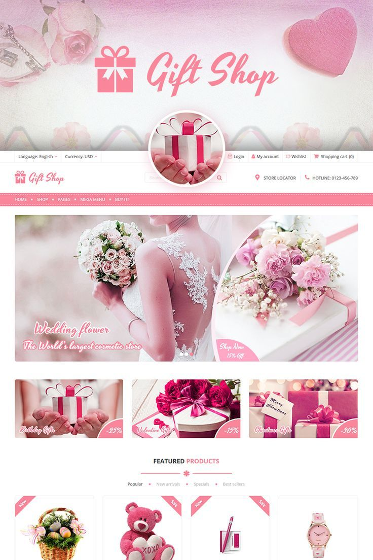 Giftshop For Gift Flower Toy And Accessories Stores Woocommerce Theme 71308 Wordpress Themes And Plugins Woocommerce Themes Wedding Gifts Online Gift Shop