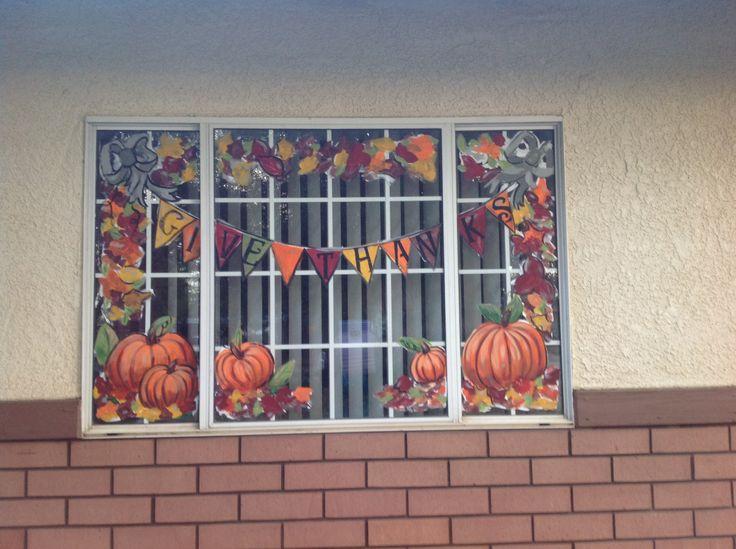fall windows window painting ideas pinterest window