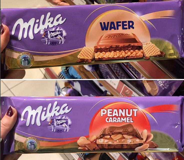 Milka Wafer and Peanut Caramel Bars