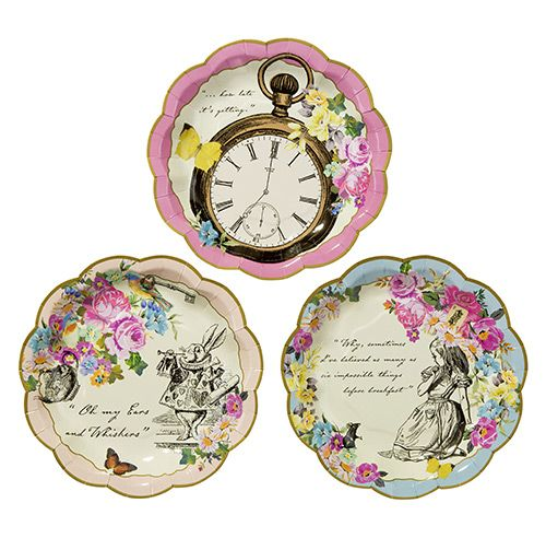 Party Ark's 'Alice in Wonderland Tea Party Plates'
