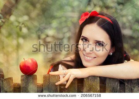 Snow white concept photo set