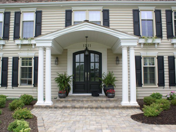 Love Me A Nice Portico With Double Doors Now To Figure
