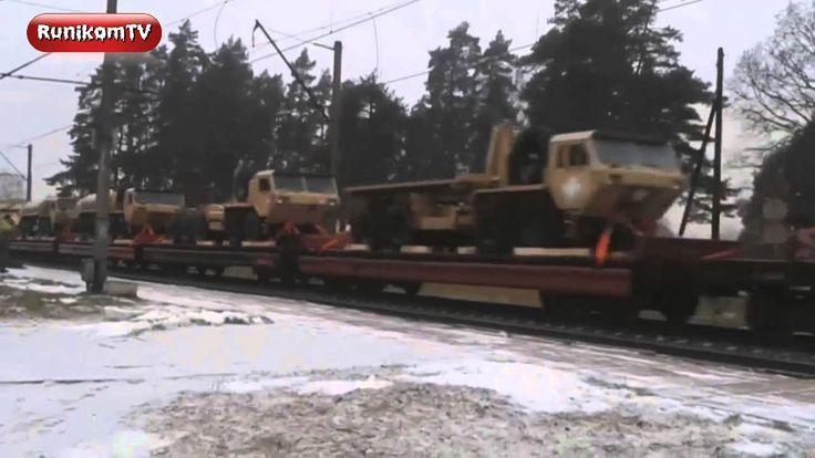 Поезд с танками армии США проехал через Латвию России на металлолом пойдут.Российские танки мощнее и качественнее.Не говоря уже о личном составе.Негров нет в танках у России. Поезд с танками армии  проехал через Латвию