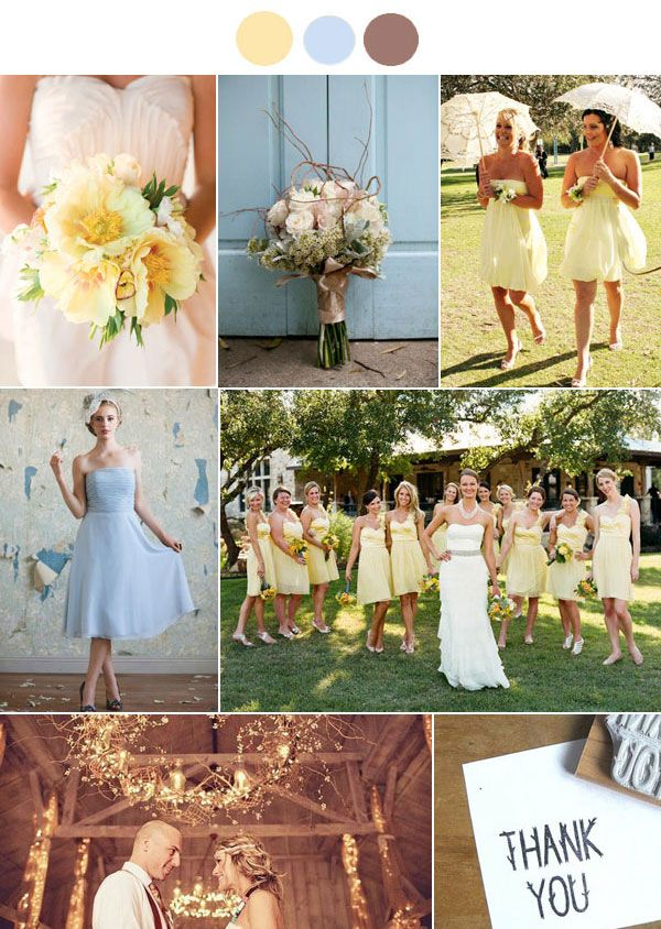 Get Inspired...Pale Yellow and Powder Blue! - Lucky in Love Wedding Planning Blog - Seattle Weddings at Banquetevent.com