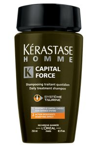 Must Have: A Shampoo Just For Men. MY FAVE: Kérastase 'Capital Force' Shampoo For Men. WHY: Developed sepifically for men from L'Oreal's über-haircare line Kérastase. Thickening, cleansing without stripping away natural oils, color-safe and smells like a (masculine) dream. Women & men will be chasing you down the street.