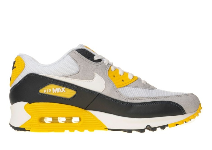 Nike Air Max 90 Mens Shoes White Yellow - 90970 Sale