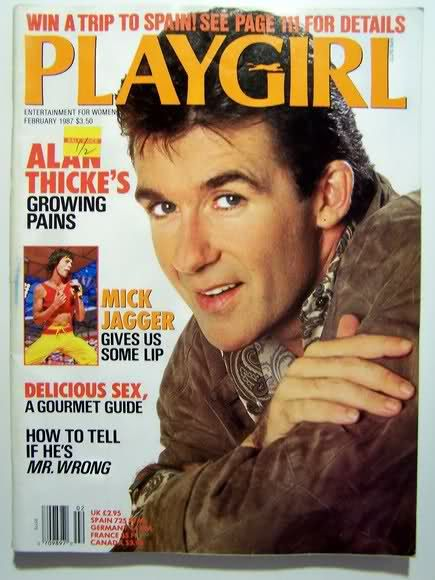 ALAN THICKE, Playgirl, 1987 | (6) MAGAZINE COVERS